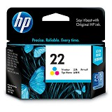 HP Tri-Color Ink Cartridge 22 [C9352AA] - Tinta Printer HP
